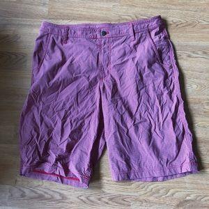 Lululemon Men's Red Gray Checkered Shorts 36